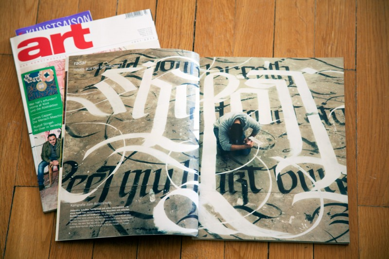Art Magazin july 2013 Urban calligraphy1 800x533 Urban Calligraphy SKYFALL Featured at ART Magazin Issue July 2013