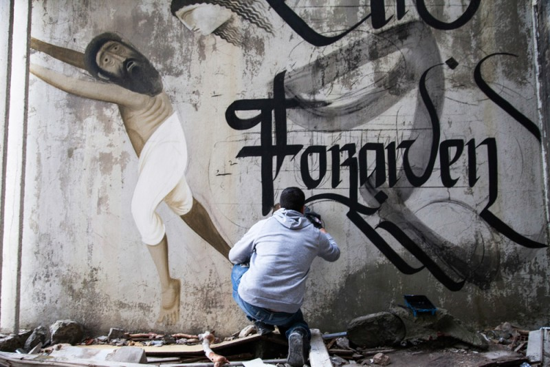 Unforgiven simon silaidis urban calligraphy 03 800x533 The Unforgiven Latest Mural