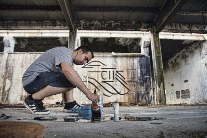 calligraphy mural zeus